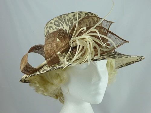 Nikita Rose Design Animal Print Wedding / Events Hat