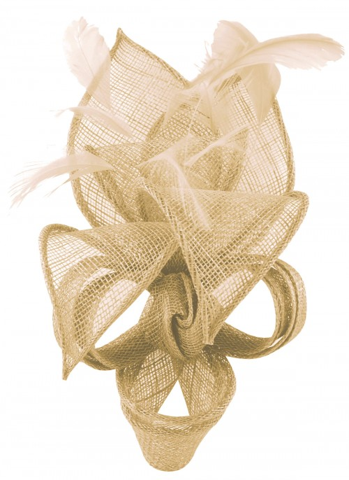 Max and Ellie Lily Comb Fascinator in Nude