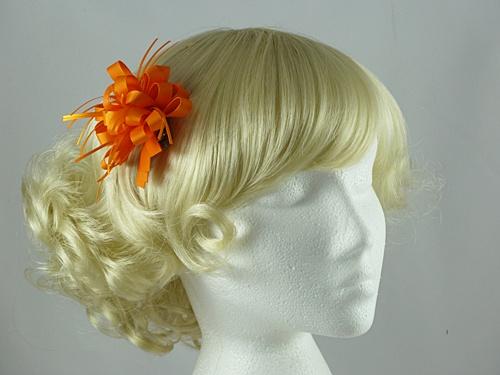 e0fd872e Wedding Hats 4U - Rosette Fascinator in Orange