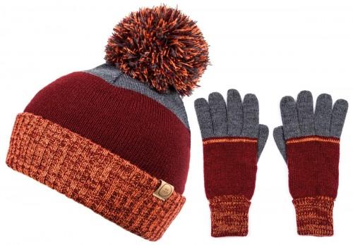 Boardmans Cruz Mens Multi Colour Beanie with Matching Gloves