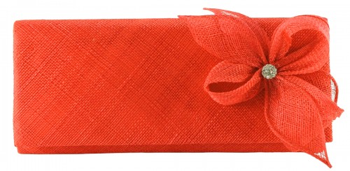 Elegance Collection Sinamay Diamante Occasion Bag in Orange