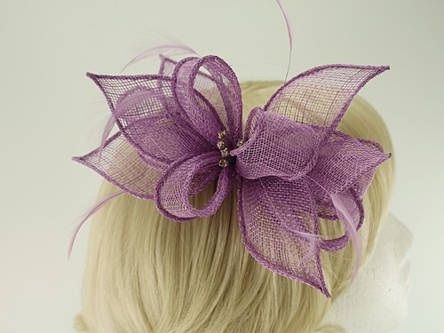 Failsworth Millinery Sinamay Clip Fascinator with Matching Occasion Bag