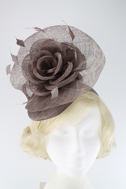 Elegance Collection Rose Pillbox Headpiece