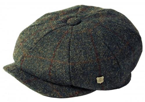 Failsworth Millinery Carloway Harris Tweed Baker Boy Cap (Latest Version) in Pattern 2018 - Grey