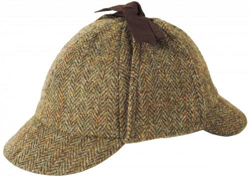 Failsworth Millinery Sherlock Harris Tweed Deerstalker