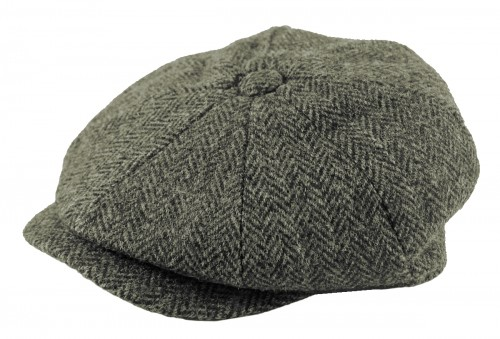 Failsworth Millinery Carloway Flat Cap in Pattern 4615 - Grey