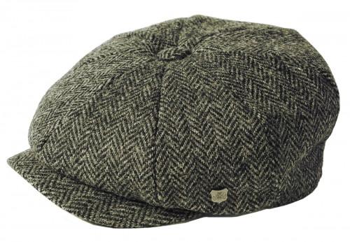 Failsworth Millinery Carloway Harris Tweed Baker Boy Cap (Latest Version) in Pattern 4615 - Grey