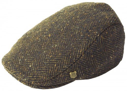 Failsworth Millinery Stockholm Wool Tweed Flat Cap
