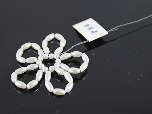 Pearl Bead Flower Hair Insert