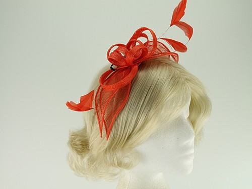 Failsworth Millinery Aliceband Sinamay Fascinator with Matching Bag