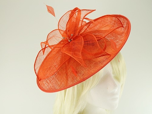 Failsworth Millinery Sinamay Leaves Disc with Matching Sinamay Bag