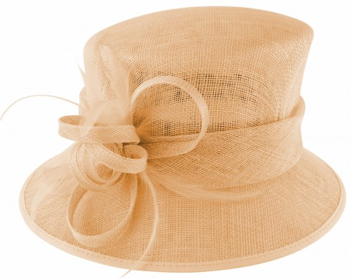 Failsworth Millinery Loops and Feathers Wedding Hat in Petal
