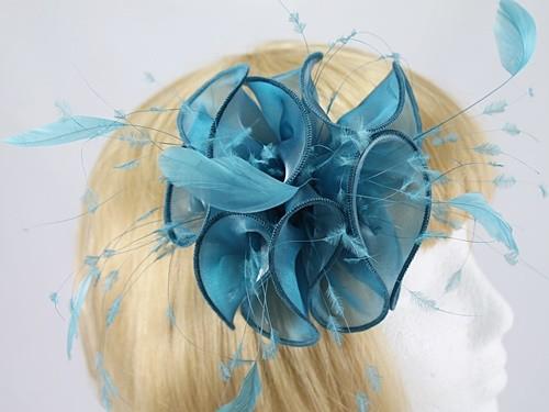 0214f51b1fd Petrol Blue Fascinator - Fascinators 4 Weddings
