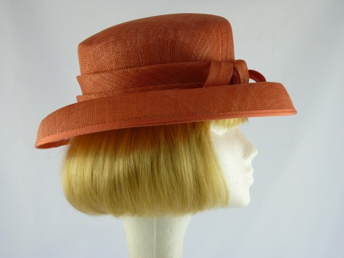 Coral Pink Occasion hat