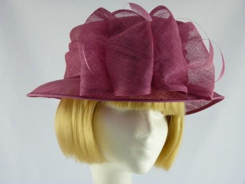 Ascot hat in Plum