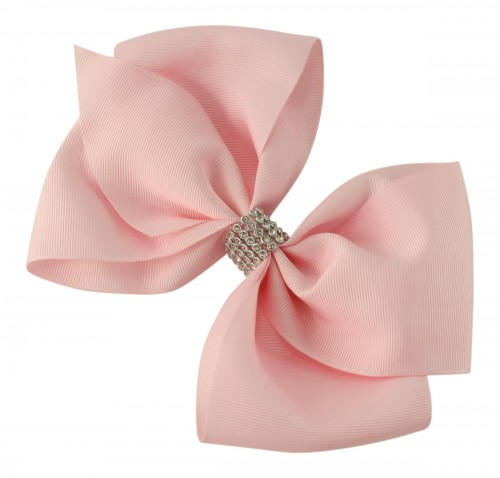 fd2150e36171 Molly and Rose Large Diamante Hair Bow in Pink