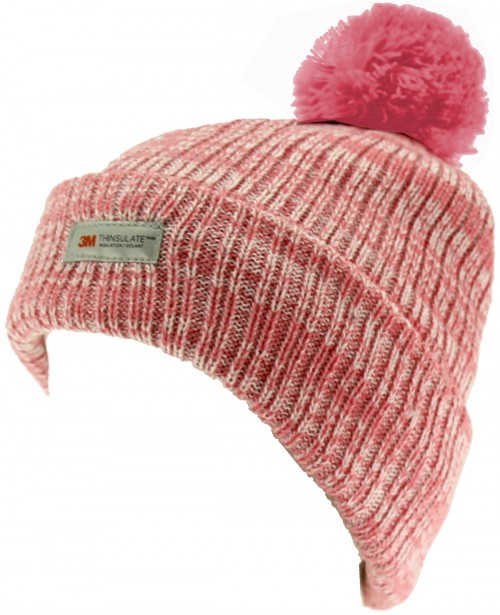 SSP Hats Kids Thinsulate Beanie Bobble Hat in Pink