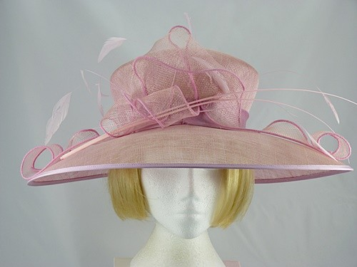 SUZANNE BETTLEY IVORY AND BLACK WEDDING HAT DISC FASCINATOR mother of the bride