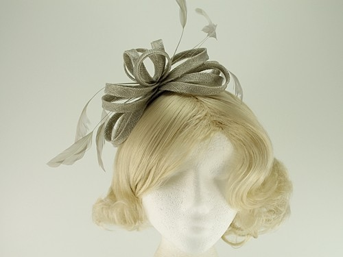 Failsworth Millinery Sinamay Loops Fascinator with Matching Sinamay Bag