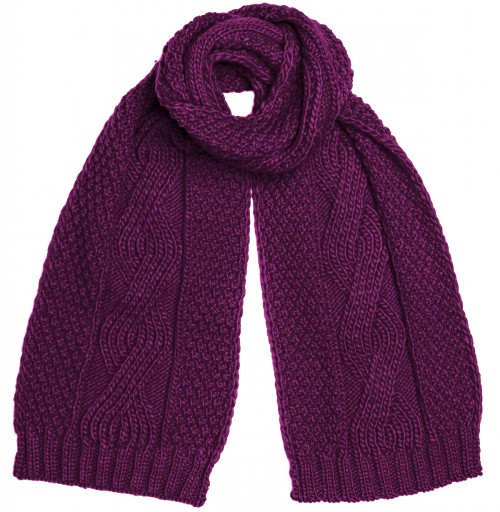Boardman Darby Ladies Cable Knit Scarf