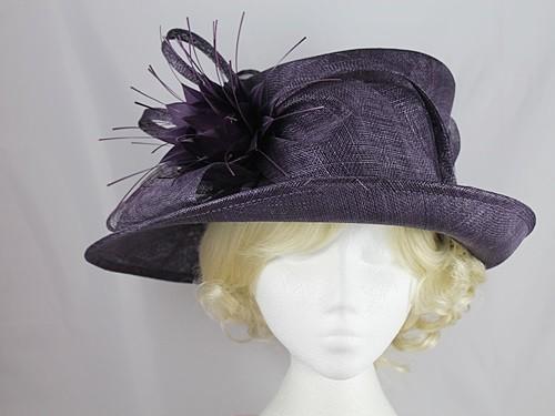 0bcbe9b52e634 Wedding Hats 4U - Failsworth Millinery Flower Events Hat in Plum - 7234