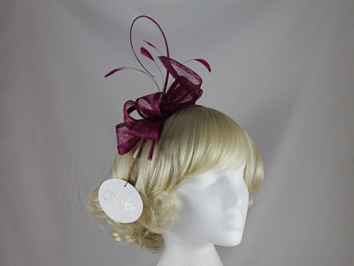 b804faee8c8c7 Wedding Hats 4U - Hawkins Collection Quill and Loops Fascinator in ...
