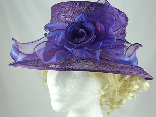eede9b7b1c14c Wedding Hats 4U - Failsworth Millinery Wedding Hat in Purple