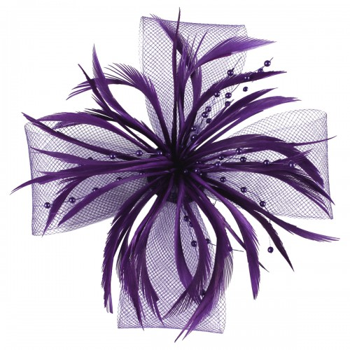Aurora Collection Biots and Beads Fascinator