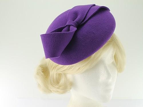 Failsworth Hats Alice Wool Felt Cloche Purple
