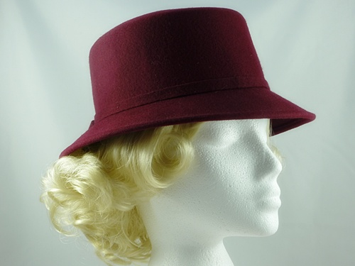 Dark Red Occasion Hat