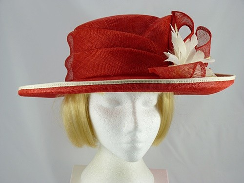 67684758 Jacques Vert Formal hat in Red - Wedding Hats 4U