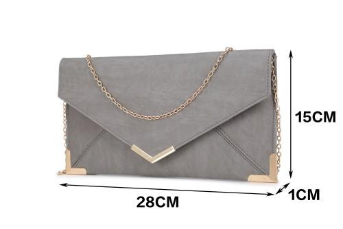 Papaya Fashion Faux Leather Envelope Bag