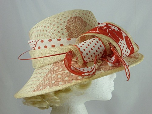 Red and White Patterned Hat