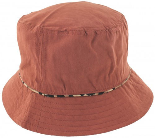 Hawkins Collection Reversible Leopard Print Bucket Sun Hat