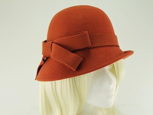 Hawkins Collection Wool Felt Vintage Cloche Bow Hat