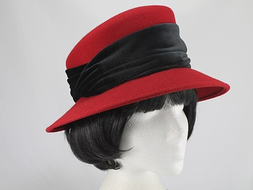 Scarlet and Black Formal Hat