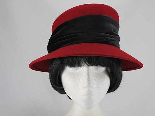 Scarlet and Black Formal Hat