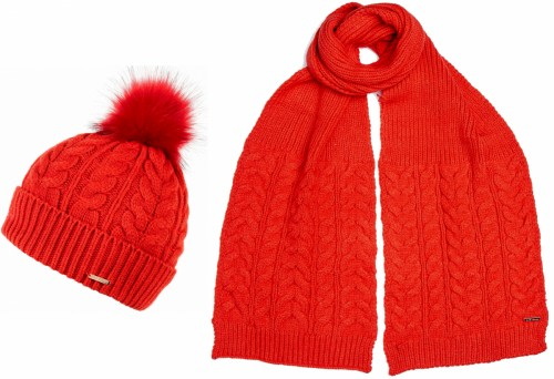 Alice Hannah Madeline Knitted Beanie and Matching Knitted Scarf