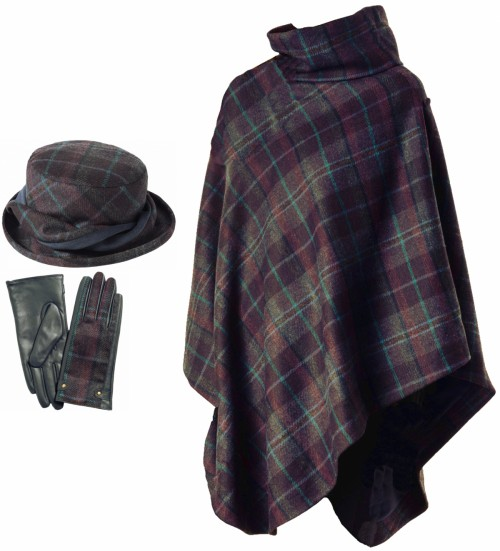 Failsworth Millinery Mallaleius Wool Hat with Matching Cape and Gloves