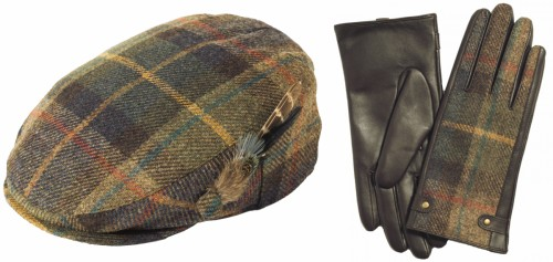 Failsworth Millinery Wool Flat Cap with Matching Gloves