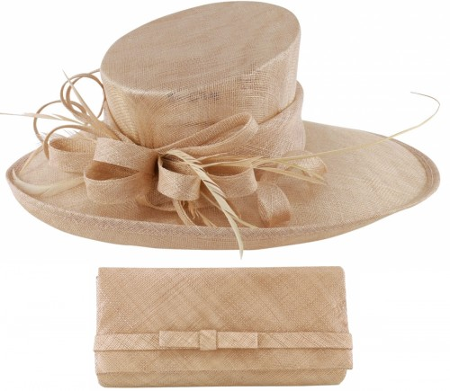 Max and Ellie Events Hat with Matching Occasion Bag in Candy