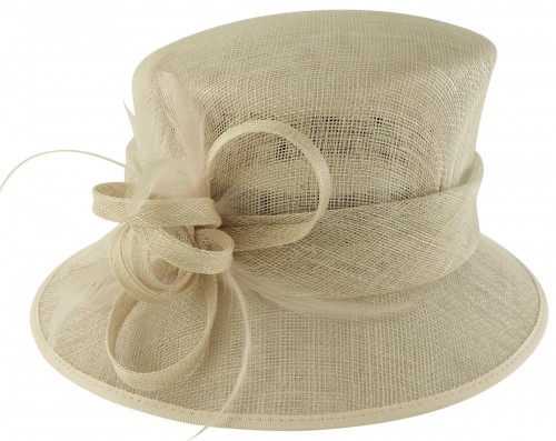 Failsworth Millinery Loops and Feathers Wedding Hat in Silver