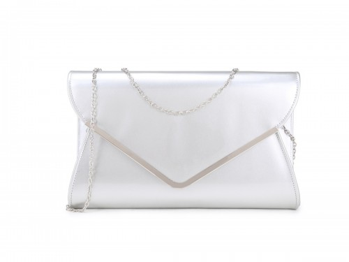 Papaya Fashion Patent Large Clutch Bag