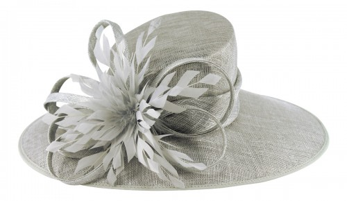 e4870ab5d901d Fascinators 4 Weddings - Failsworth Millinery Events Hat in Steel (7806)