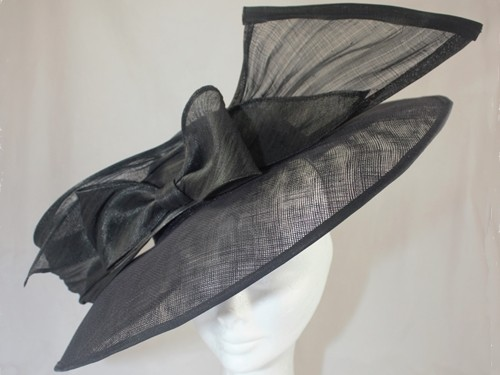 Suzie Mahony Designs Black Bow Hat