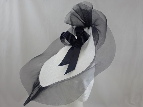 Suzie Mahony Designs Black and White Kate Headpiece