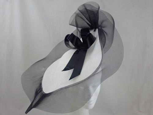 Suzie Mahony Designs Black and White Kate Headpiece