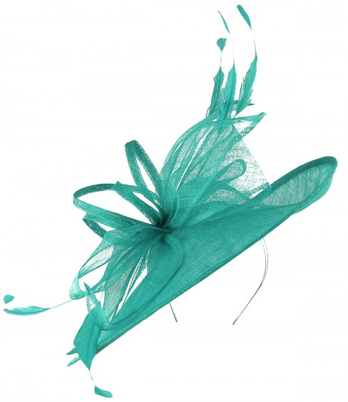 Max and Ellie Ascot Disc Headpiece in Turquoise