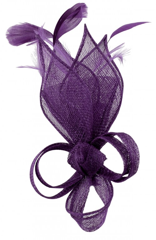 Max and Ellie Lily Comb Fascinator in Violet