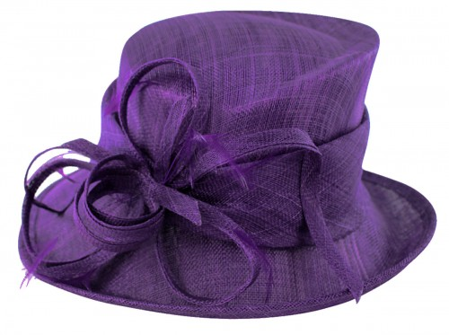 Max and Ellie Occasion Hat in Violet